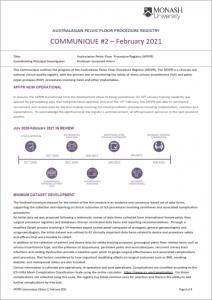 APFPR Communique, Edition 2, February 2021 Screen Shot